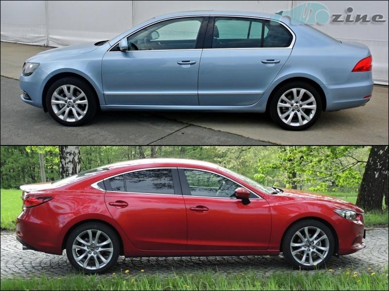 TEST Mazda6 2,0 Skyactiv-G vs. Škoda Superb 1,8 TSI - Není střední jako střední